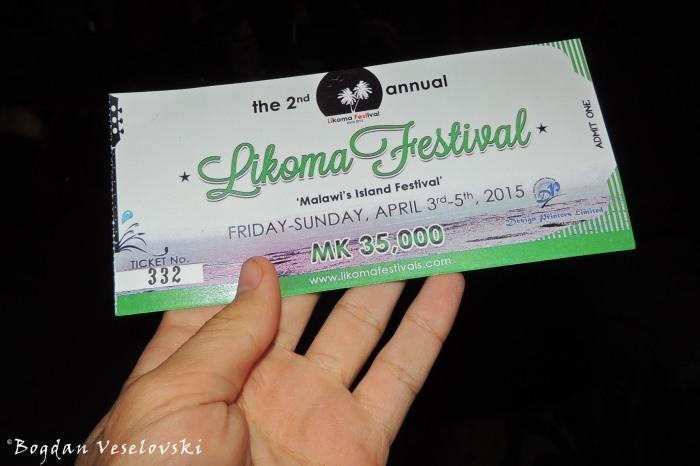 Likoma Festival ticket
