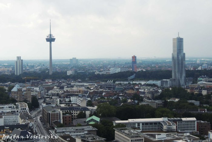 Cologne view - Deutsche Telekom AG, Colonius TV Tower, Herkules-Hochhau & Cologne Tower (Deutsche Telekom AG, Colonius, Herkules-Hochhaus & KölnTurm)