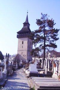 Stone tower of othodox cemetery, Deva