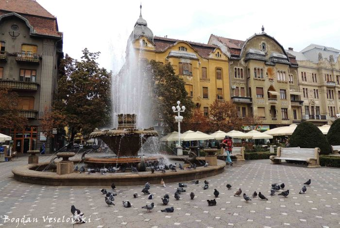 'Fish Fountain' in Victoriei Square, Timișoara
