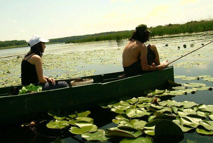 Fishing on Snagov Lake