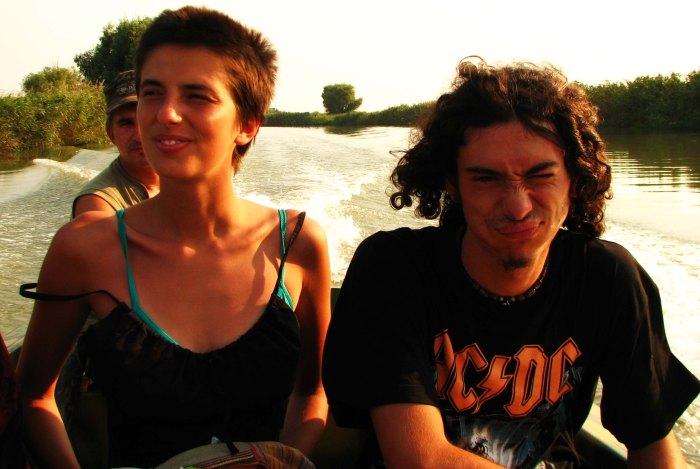 In the boat towards Danube Delta