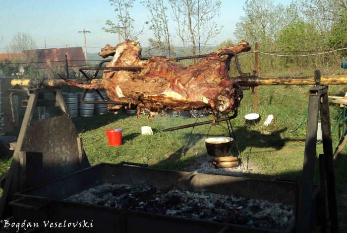 Meat on a spit