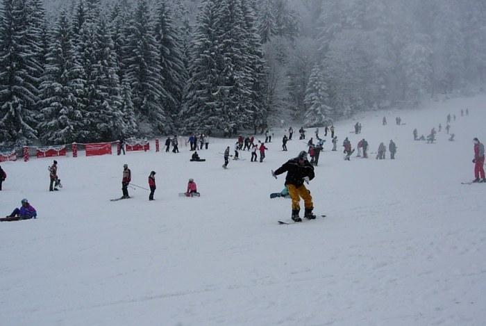 Snowboarding in Poiana Brașov