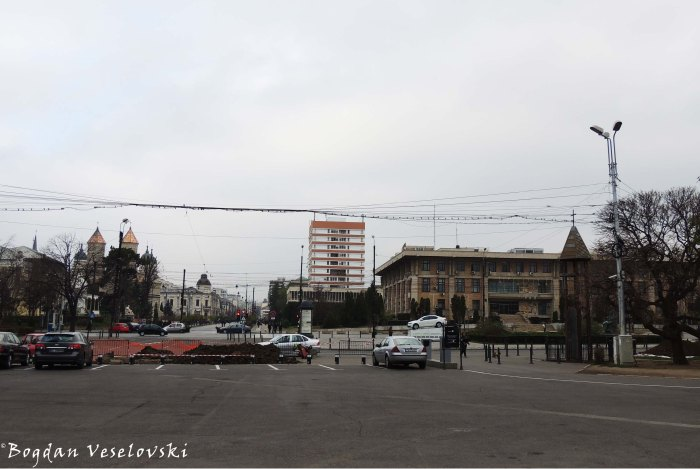 View from Palace's Square - Monastery of the Three Hierarchs, Stefan cel Mare Boulevard, County Council & Martyrs' cross