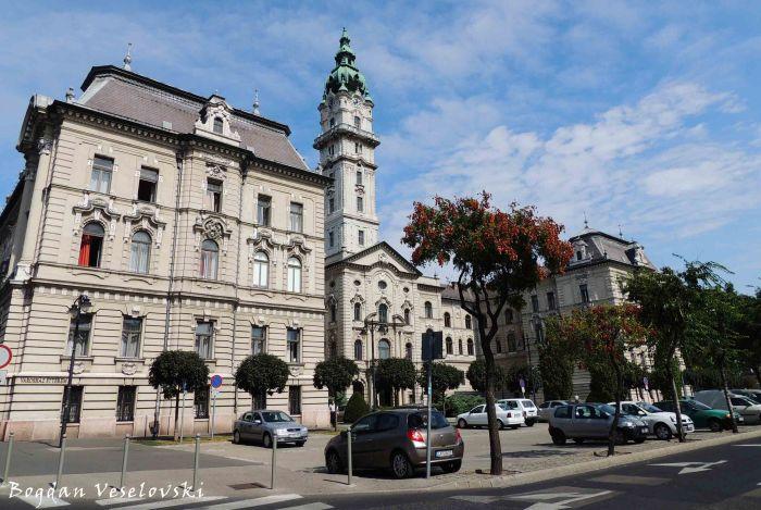 Győr Town Hall - rear view (Városháza)
