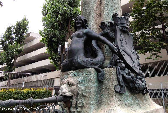 Detail of 'Night-watchman's fountain' by Heinrich Halmhuber (Nachtwächterbrunnen)