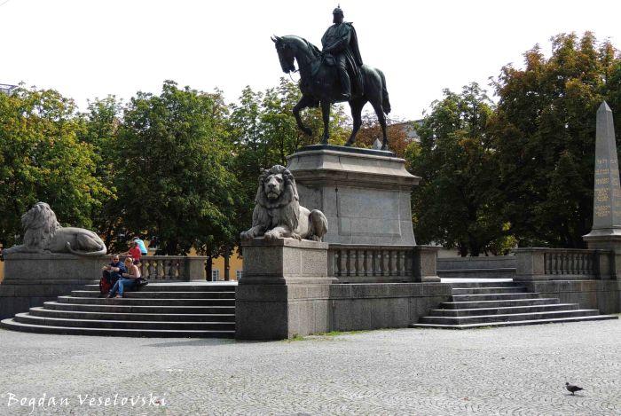 Equestrian statue of the German Emperor Wilhelm I on Karlsplatz (Reiterstandbild Kaiser Wilhelm I auf dem Karlsplatz)