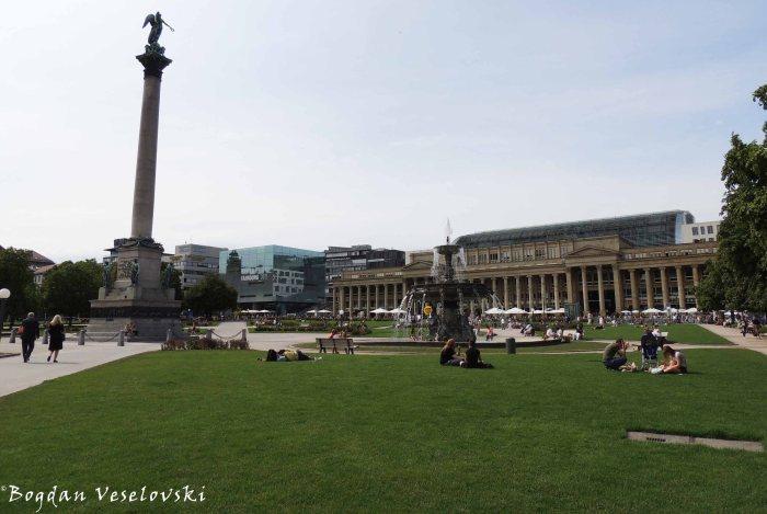 Schlossplatz with Königsbau on the background
