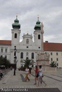 Church of St Ignatius Loyola And Trinity Column in Szechenyi Square