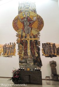 Modern crucifix in Stuttgart Cathedral