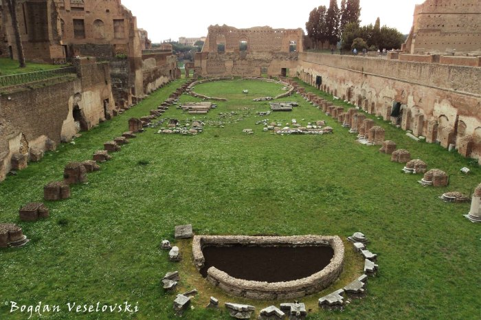 Stadium of Domus Augustana, Palatine Hill (Stadio della Domus Augustana, Palatino)