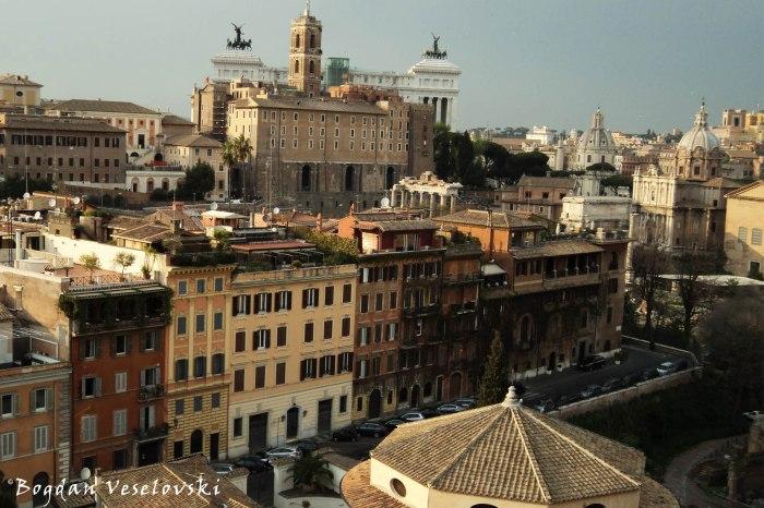 View from Domus Tiberiana, Palatine - Capitoline Hill & Roman Forum