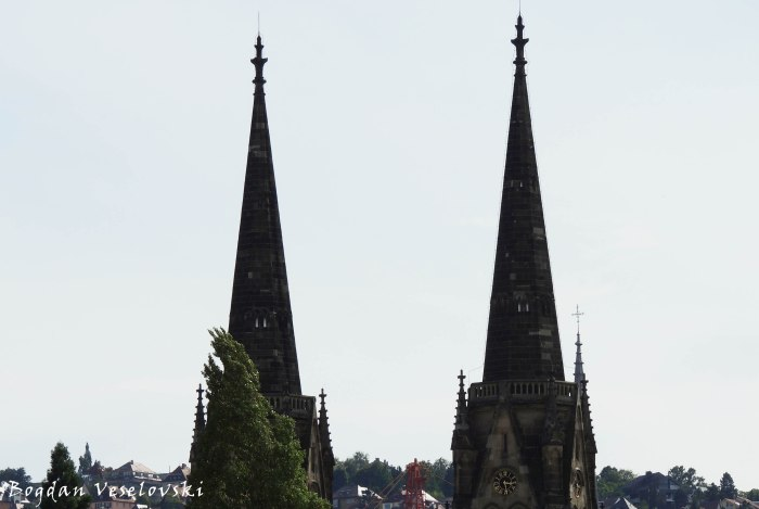 Marienkirche's spires, Stuttgart