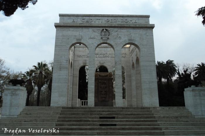 Monument to the fallen (Monumento ai caduti per la causa di Roma Italiana)