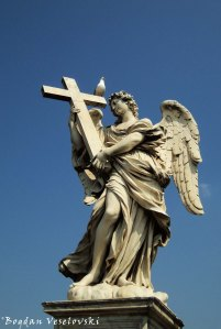 Angel with the Cross by Ercole Ferrata, Ponte Sant'Angelo