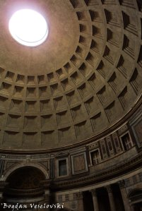 Oculus in the dome of the Pantheon, Rome