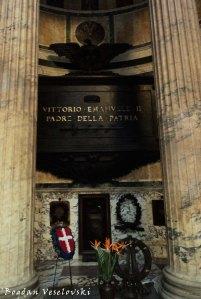 Tomb of Vittorio Emanuele II inside the Pantheon