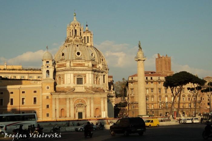 Trajan's Forum - Church of Santa Maria di Loreto, Church of the Most Holy Name of Mary at the Trajan Forum & Trajan's Column (Forum Traiani - Santa Maria di Loreto, Santissimo Nome di Maria al Foro Traiano & Colonna Traiana)