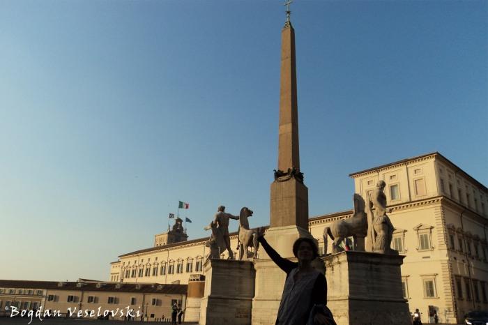 Quirinale Obelisk, 'Horse Tamers' & Quirinal Palace