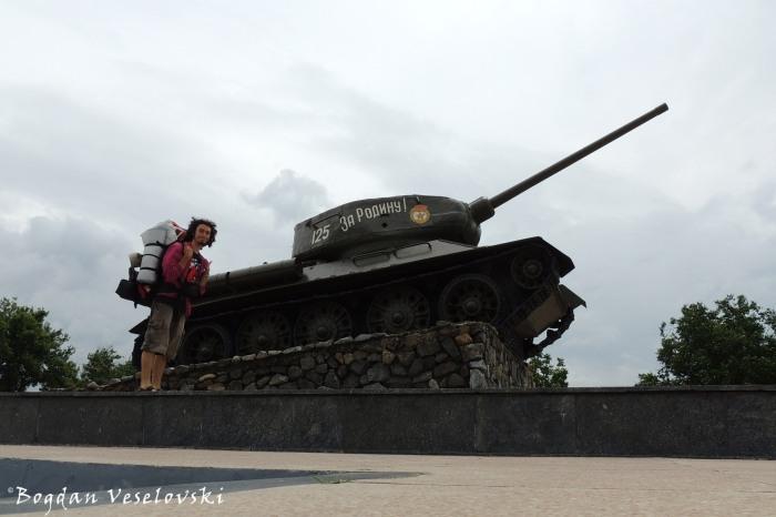 Civil war tank «Т-34», Memorial of Glory