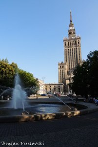 Fountain & North view of the Palace of Culture and Science, Warsaw