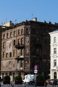 Building in the former Warsaw Ghetto