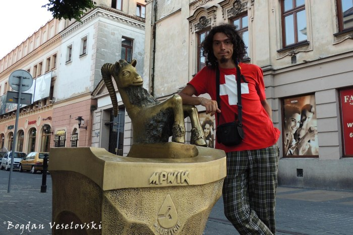 Goat fountain in Lublin