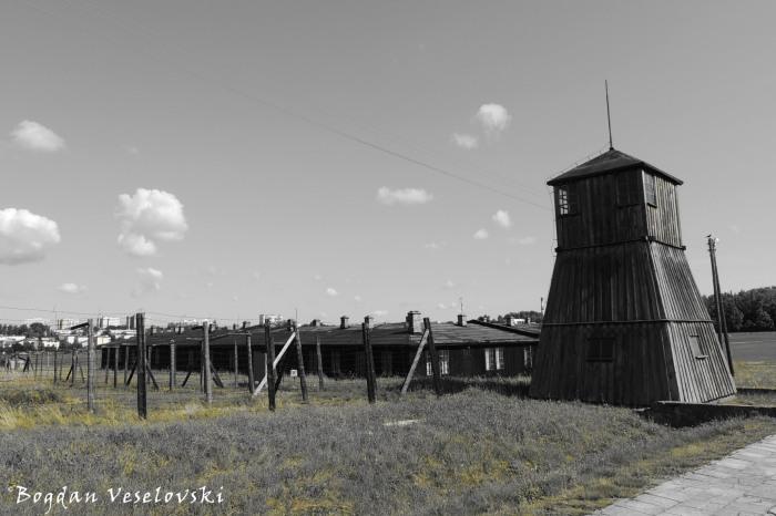 Guard tower at Majdanek Concentration Camp