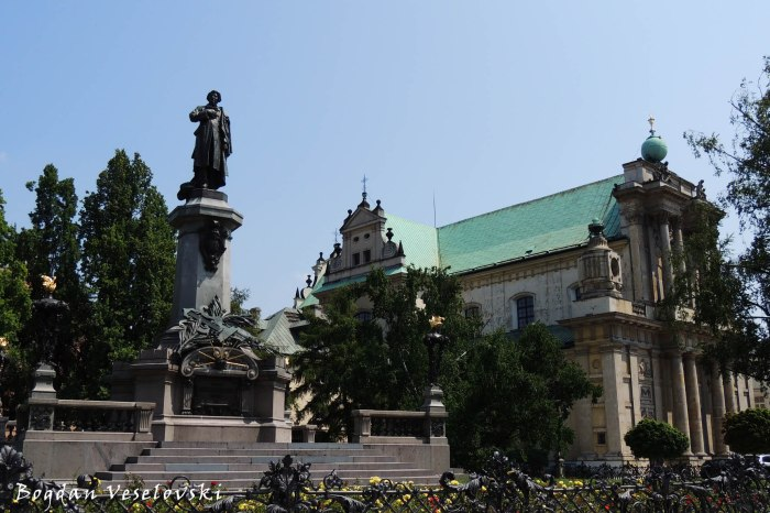 Adam Mickiewicz Monument & Carmelite Church