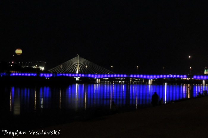 Vistula River at night