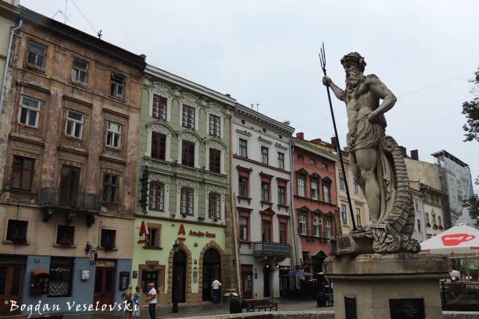 Neptune's fountain in the Market's Square