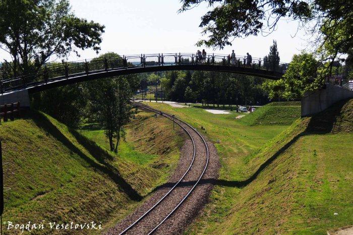 Bridge over the railway in Zamość