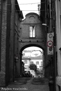 Overpass on Via Real Collegio, conecting Real Collegio Carlo Alberto with Chiesa di San Francesco, Moncalieri