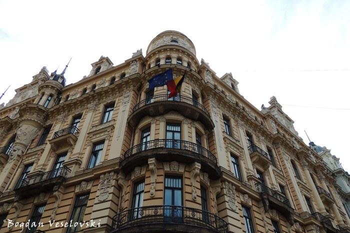 Alberta iela 13 - Embassy of Belgium (Art Nouveau)