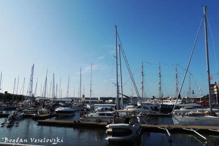 The marina at Lilla Bommen in Gothenburg