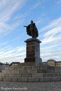 Gustav III at Skeppsbron, Stockholm by Johan Tobias Sergel