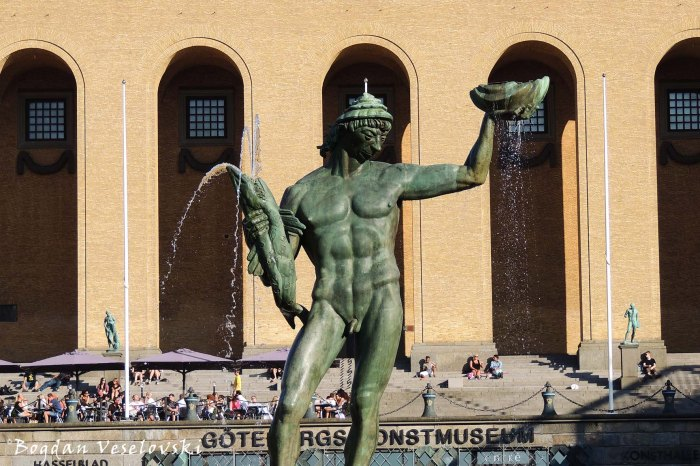 Poseidon statue by Carl Milles in Götaplatsen, Gothenburg