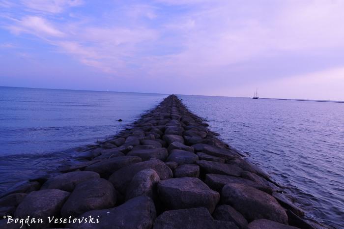 Stone path in the sea