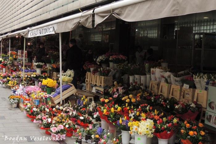 Amzei flower market, Bucharest