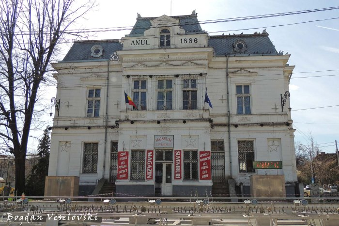 Palatul Comunal - azi Galeria de Arta a Muzeului Judetean (Communal Palace - today the Art Gallery of the County Museum, Pitești, 1885-1886, arch. Ion N. Socolescu, French eclectic style)