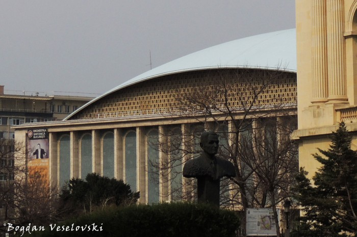 Sala Palatului (The Palace Hall) & Monument to Corneliu Coposu by Mihai Buculei