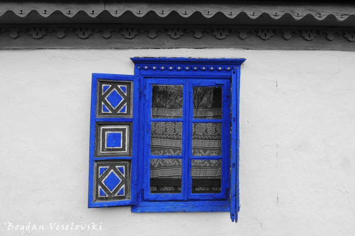 Window of a house in Jurilovca, Tulcea County