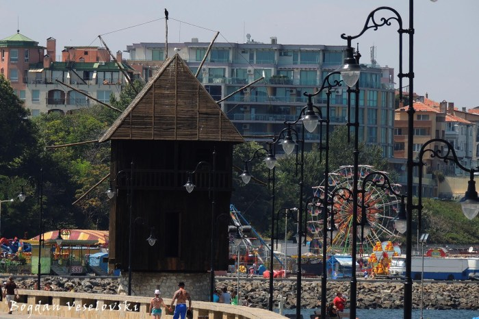The wooden windmill on the isthmus, Nesebar