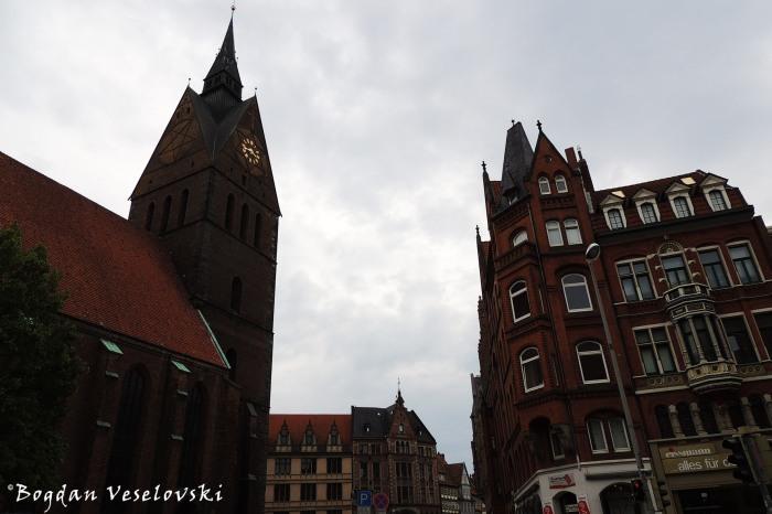 Marktkirche & Schmiedestraße, Hannover