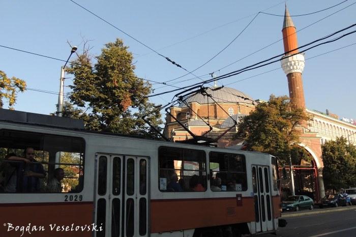 Tram & Banya Bashi Mosque, Sofia