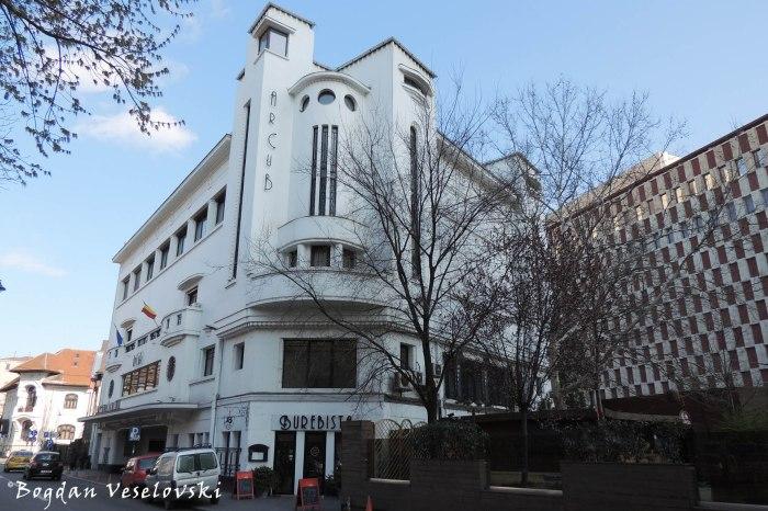 14, Batiștei Str. - Palatul Societății Funcționarilor Publici - ArCuB (Palace of the Society of Public Workers - ArCuB, 1932-1934, arch. Radu Culcer, Ion C. Roșu, Art Deco style)