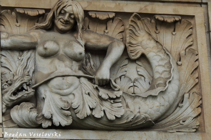 Mermaid bas-relief in Hannover