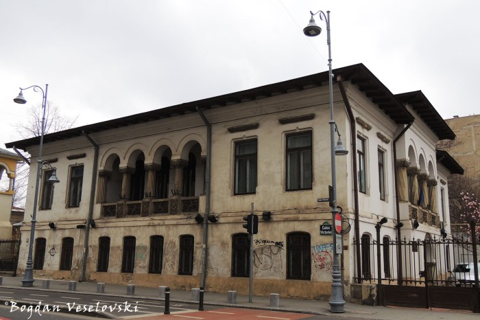 196, Calea Victoriei - Dissescu House, today 'George Oprescu' Institute of Art History (1905-1912, renovated by Grigore Cerchez & A.C. Clavel, Neo-Romanian style)