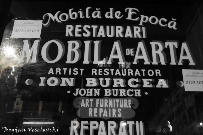 27, Carol I Blvd. - Ion Burcea (John Burch) - Art furniture repairs